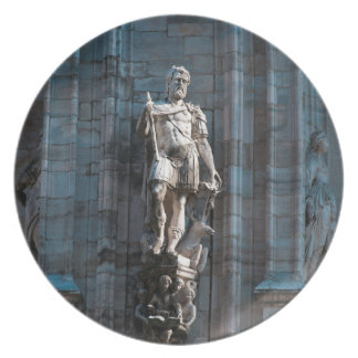 Milan Cathedral dome statue architecture monument Plate