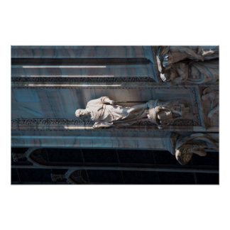 Milan Cathedral dome statue architecture monument Poster