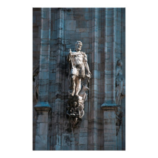 Milan Cathedral dome statue architecture monument Stationery