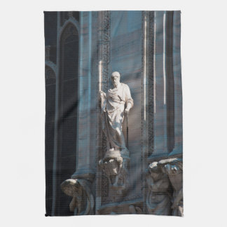 Milan Cathedral dome statue architecture monument Tea Towel
