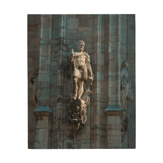 Milan Cathedral dome statue architecture monument Wood Wall Art