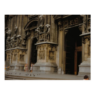 Milan Cathedral entrance Postcard