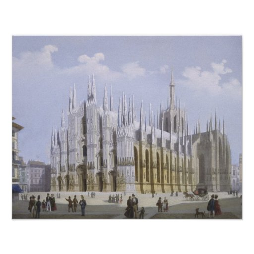 Milan Cathedral from 'Views of Milan and its Envir Posters
