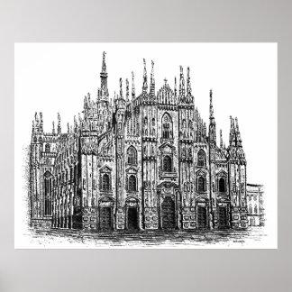 Milan cathedral s poster