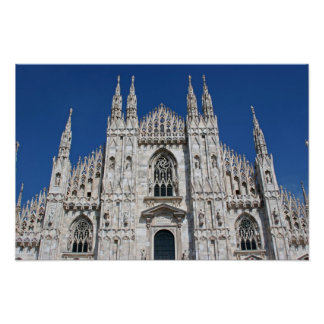 Milan Duomo Facade 1 Print