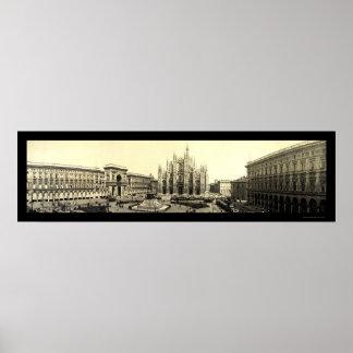 Milan Duomo Square Italy Photo 1909 Print