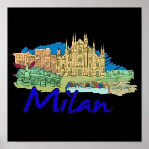 Milan - Italy.png Poster