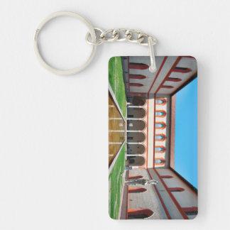 milan italy pool Sforza Castle Courtyard landmark Key Ring
