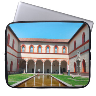 milan italy pool Sforza Castle Courtyard landmark Laptop Sleeve