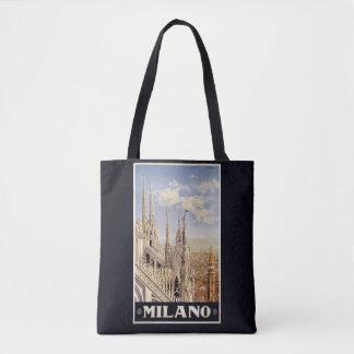 Milan Milano Italy vintage travel bags Tote Bag