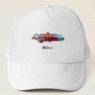 Milan V2 skyline in watercolor Trucker Hat