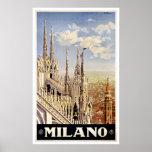Milano Italy Church Vintage Travel Print