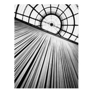 Milano Italy, Display at the Galleria Postcard