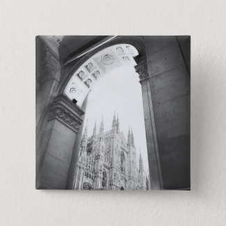 Milano Italy, Galleria View of the Duomo 15 Cm Square Badge