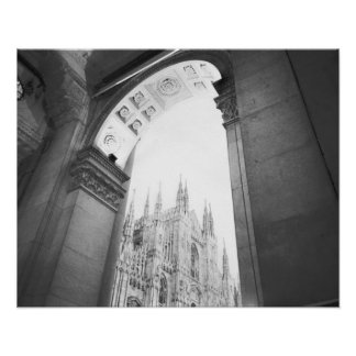 Milano Italy, Galleria View of the Duomo Poster