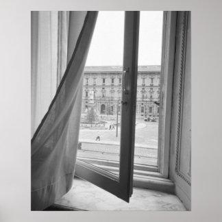 Milano Italy, View from La Scala Opera Window Poster