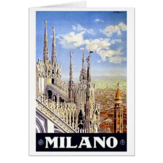 Milano Italy Vintage Travel Card