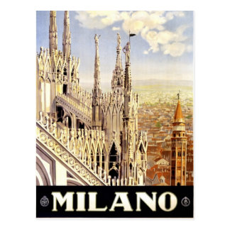 Milano, Italy vintage travel picture postcard
