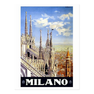 Milano Italy Vintage Travel Postcard