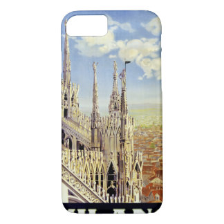 Milano Italy Vintage Travel Poster Restored iPhone 7 Case