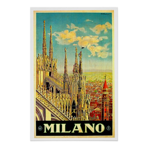 Milano / Milan Italy Cityscape Vintage Posters