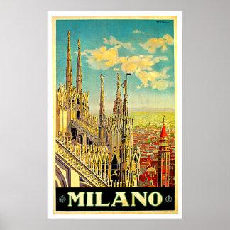 Milano / Milan Italy Cityscape Vintage Posters