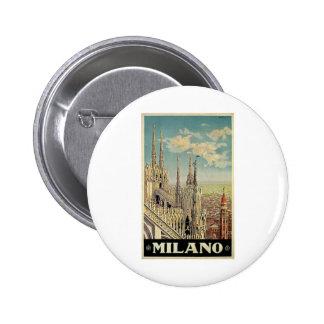 Milano Milan Italy Vintage Travel Pinback Buttons