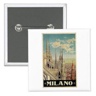 Milano Milan Italy Vintage Travel Button
