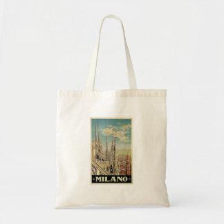 Milano Milan Italy Vintage Travel Budget Tote Bag