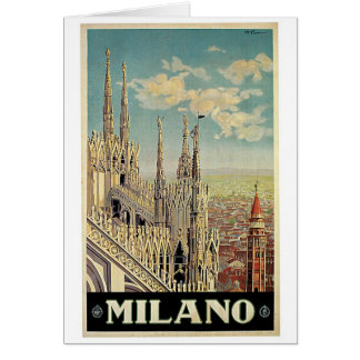 Milano Milan Italy Vintage Travel Card
