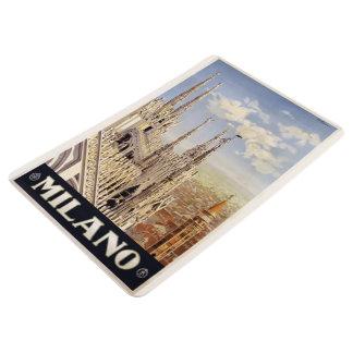 Milano Milan Italy vintage travel floor mat