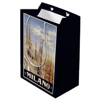 Milano Milan Italy Vintage Travel gift bags Medium Gift Bag
