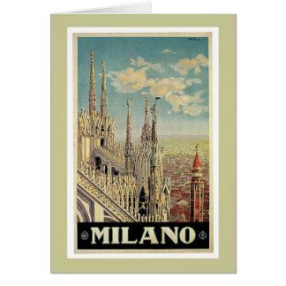 Milano Milan Italy Vintage Travel Greeting Card