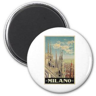 Milano Milan Italy Vintage Travel Refrigerator Magnets