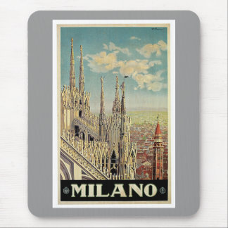 Milano Milan Italy Vintage Travel Mouse Pads