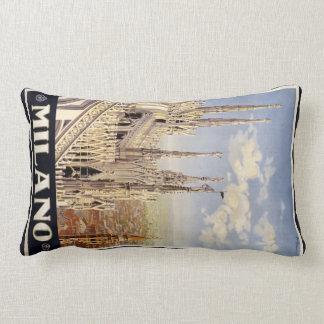 Milano (Milan) Italy vintage travel pillow Cushion