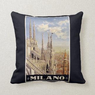 Milano (Milan) Italy vintage travel pillow Cushions