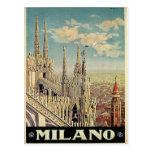 Milano Milan Italy Vintage Travel Postcard