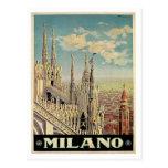 Milano Milan Italy Vintage Travel Poster Art Postcard