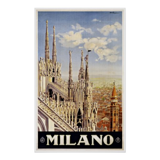 Milano Milan Italy - Vintage Travel Posters