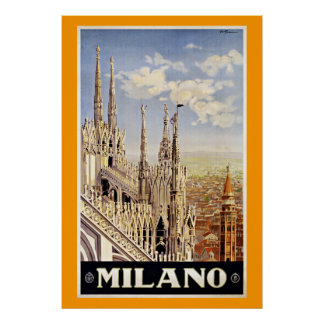 Milano Milan Italy Vintage Travel Posters