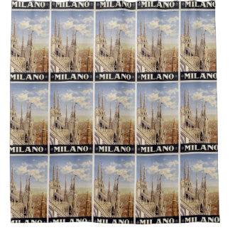 Milano Milan Italy Vintage Travel shower curtain