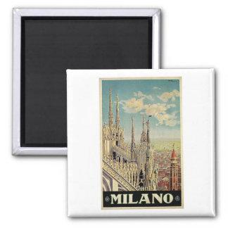 Milano Milan Italy Vintage Travel Square Magnet