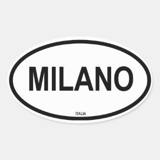 MILANO OVAL STICKER