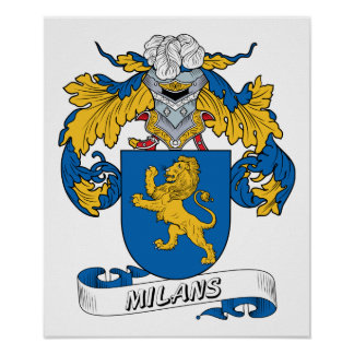 Milans Family Crest Posters