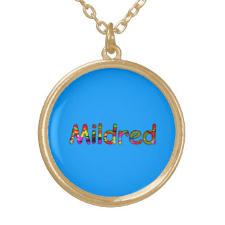 Mildred accessories round pendant necklace