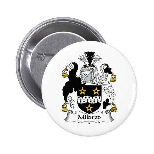 Mildred Family Crest Buttons