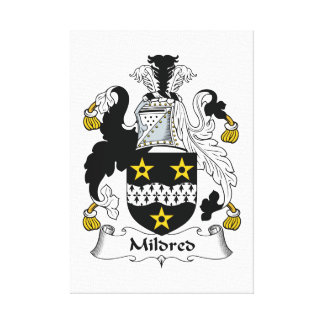 Mildred Family Crest Canvas Prints