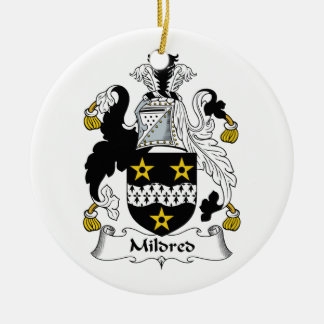 Mildred Family Crest Ornaments