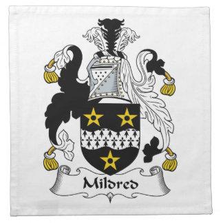 Mildred Family Crest Printed Napkin